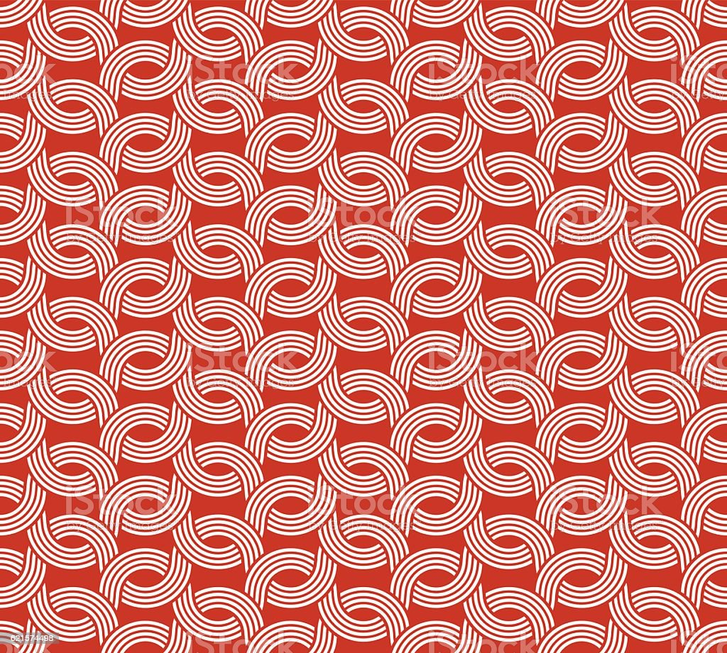Parallel rounded weave lines seamless pattern. vector art illustration