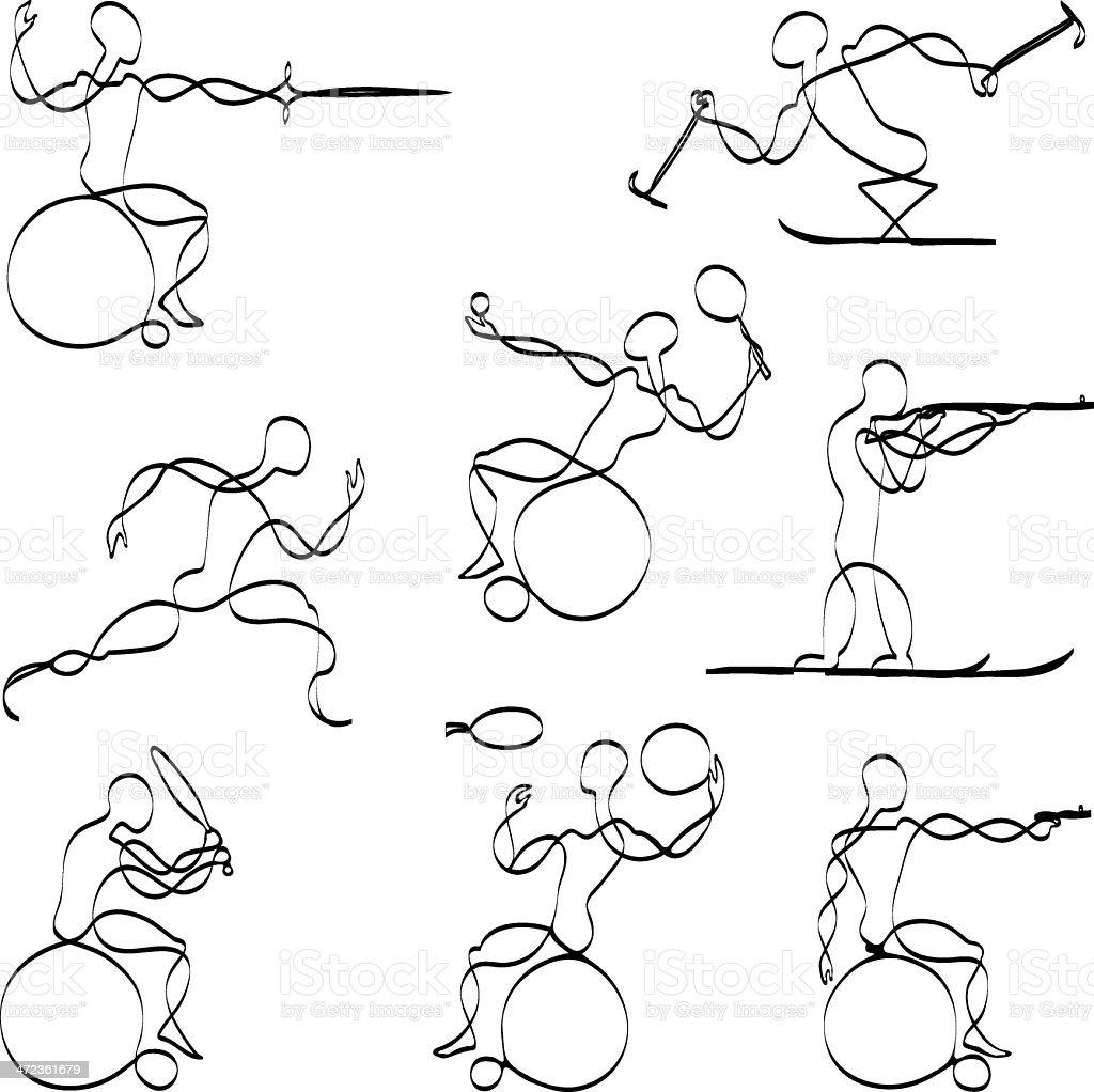 Paralympic sports vector art illustration