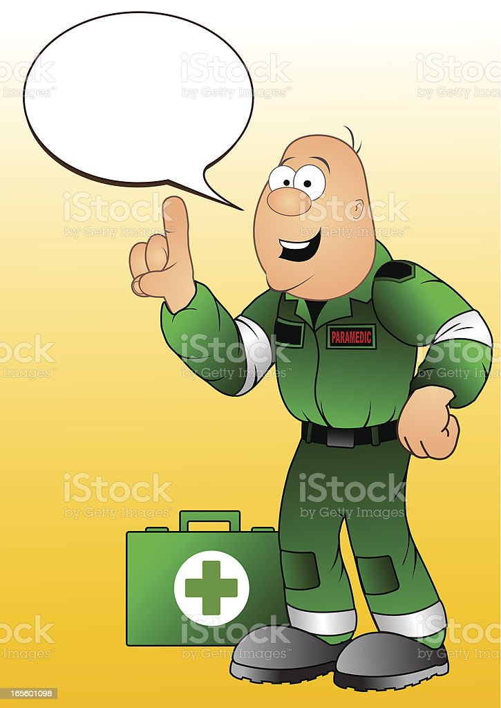 paramedic vector art illustration