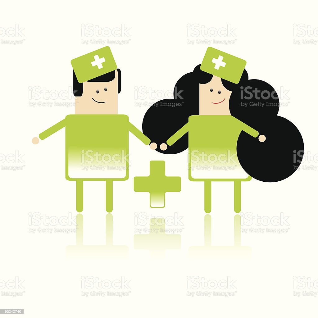 Paramedic workers royalty-free stock vector art