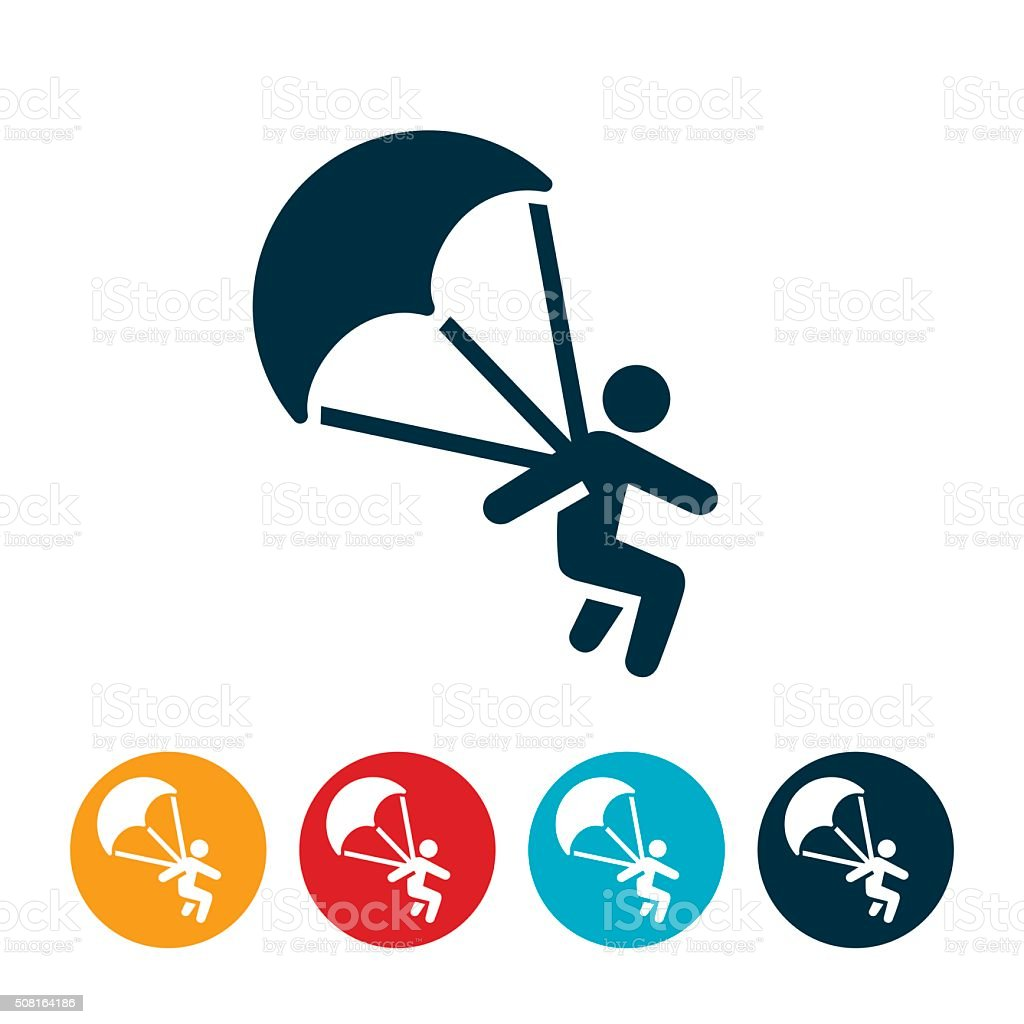 Parasailing Icon vector art illustration