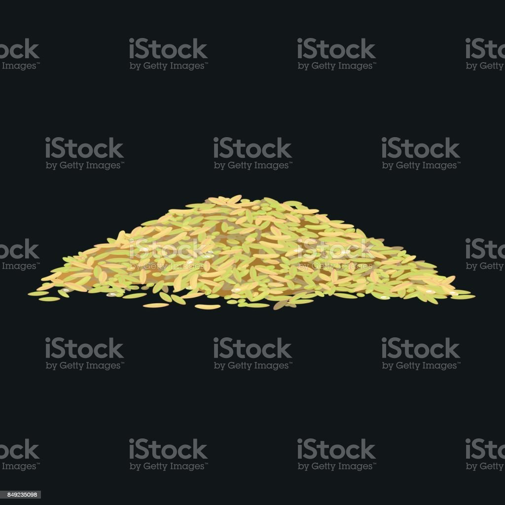Parboiled rice vector vector art illustration