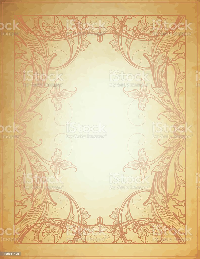 Parchment Arabesque Frame royalty-free stock vector art