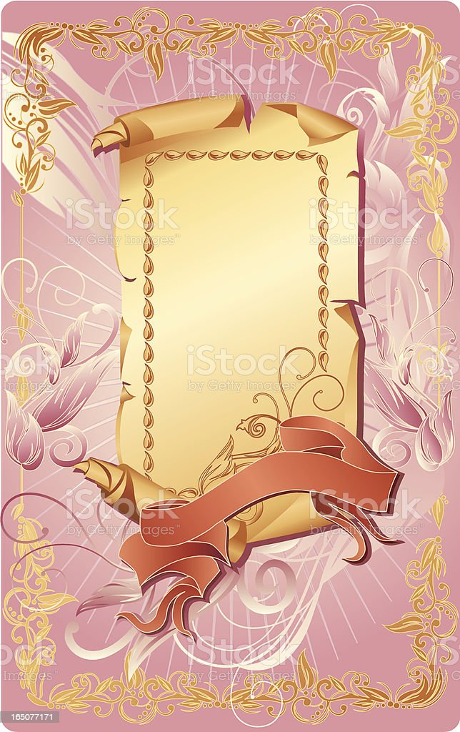 Parchment & Banner royalty-free stock vector art