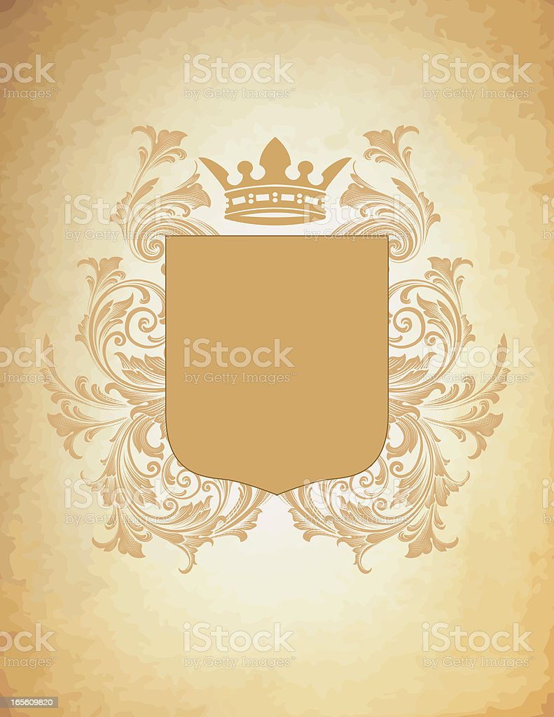 Parchment Coat of Arms royalty-free stock vector art
