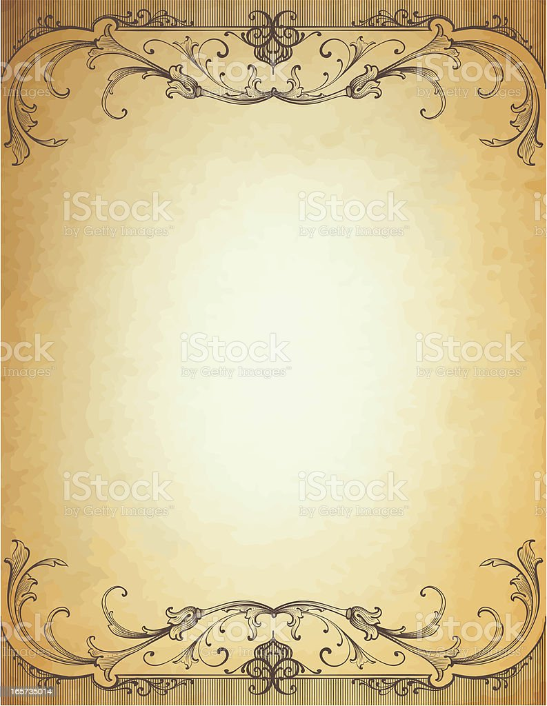 Parchment Header royalty-free stock vector art