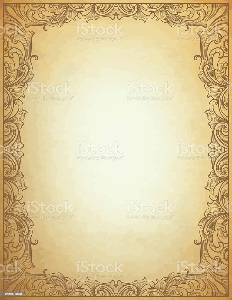 Parchment Scroll Frame royalty-free stock vector art
