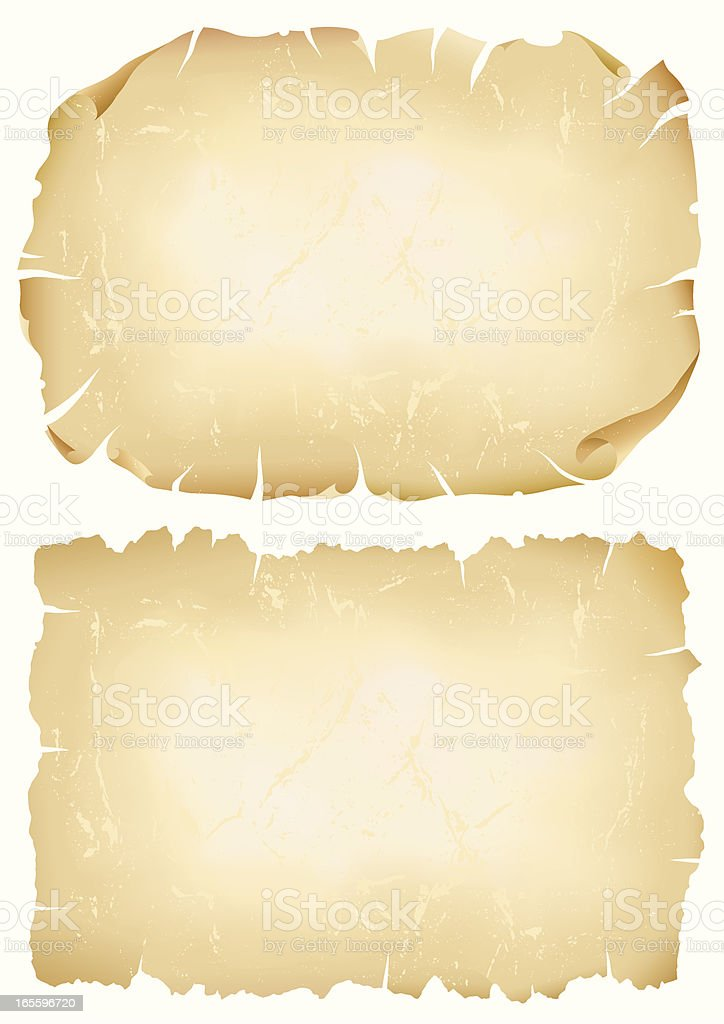 Parchment royalty-free stock vector art