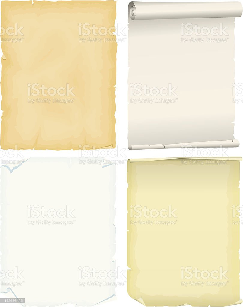 Parchment vector art illustration