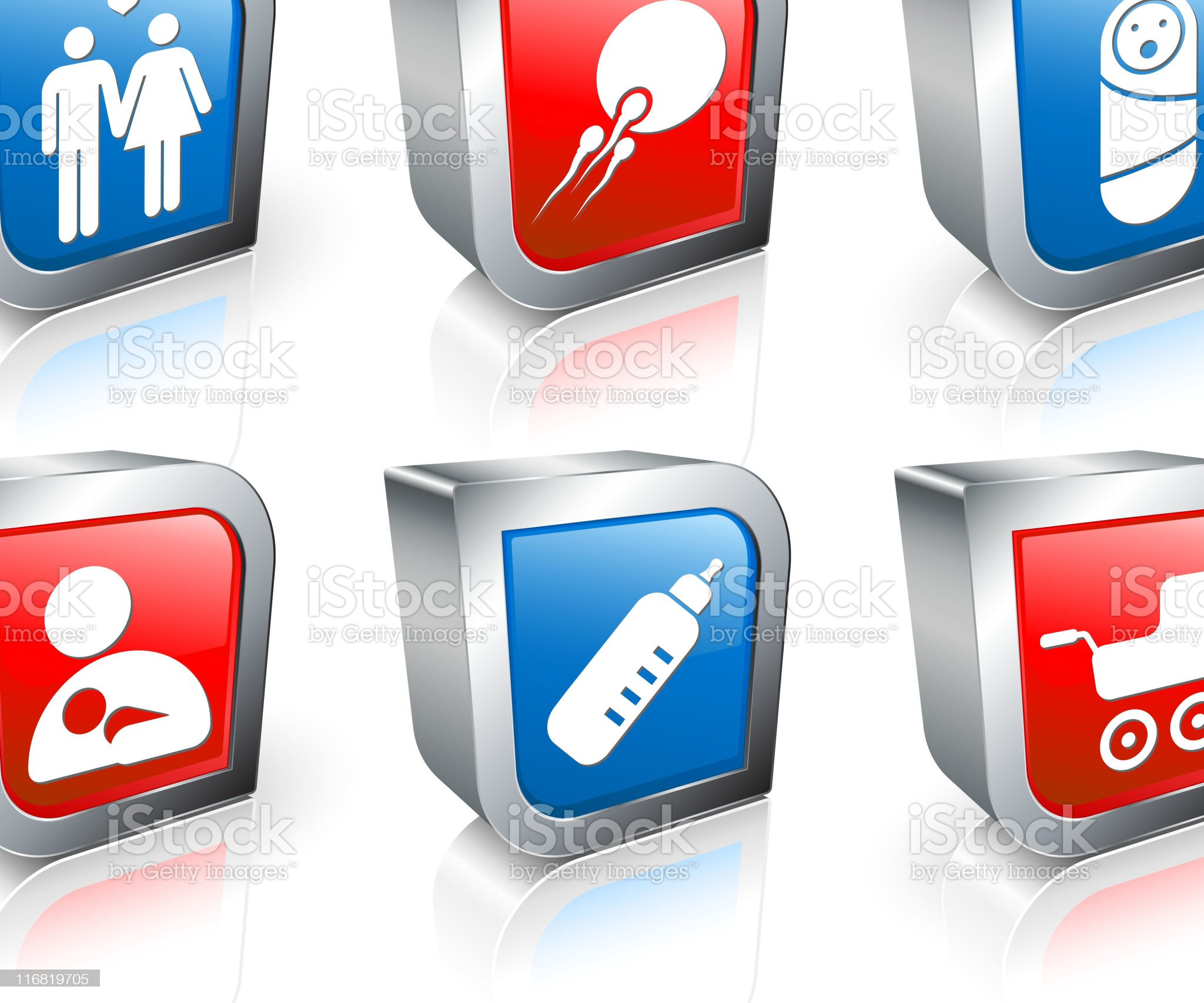 parenting square vector icon set royalty-free stock vector art