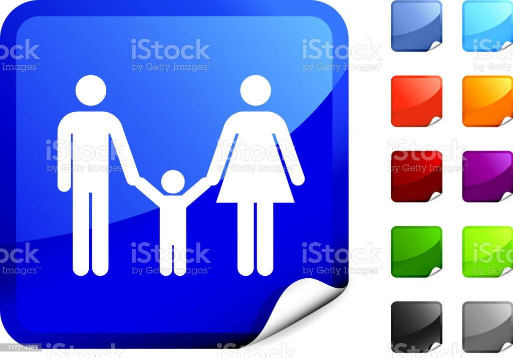 parents with a child internet royalty free vector art royalty-free stock vector art