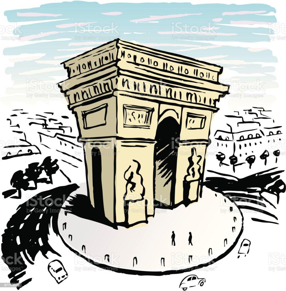 Paris Arch royalty-free stock vector art