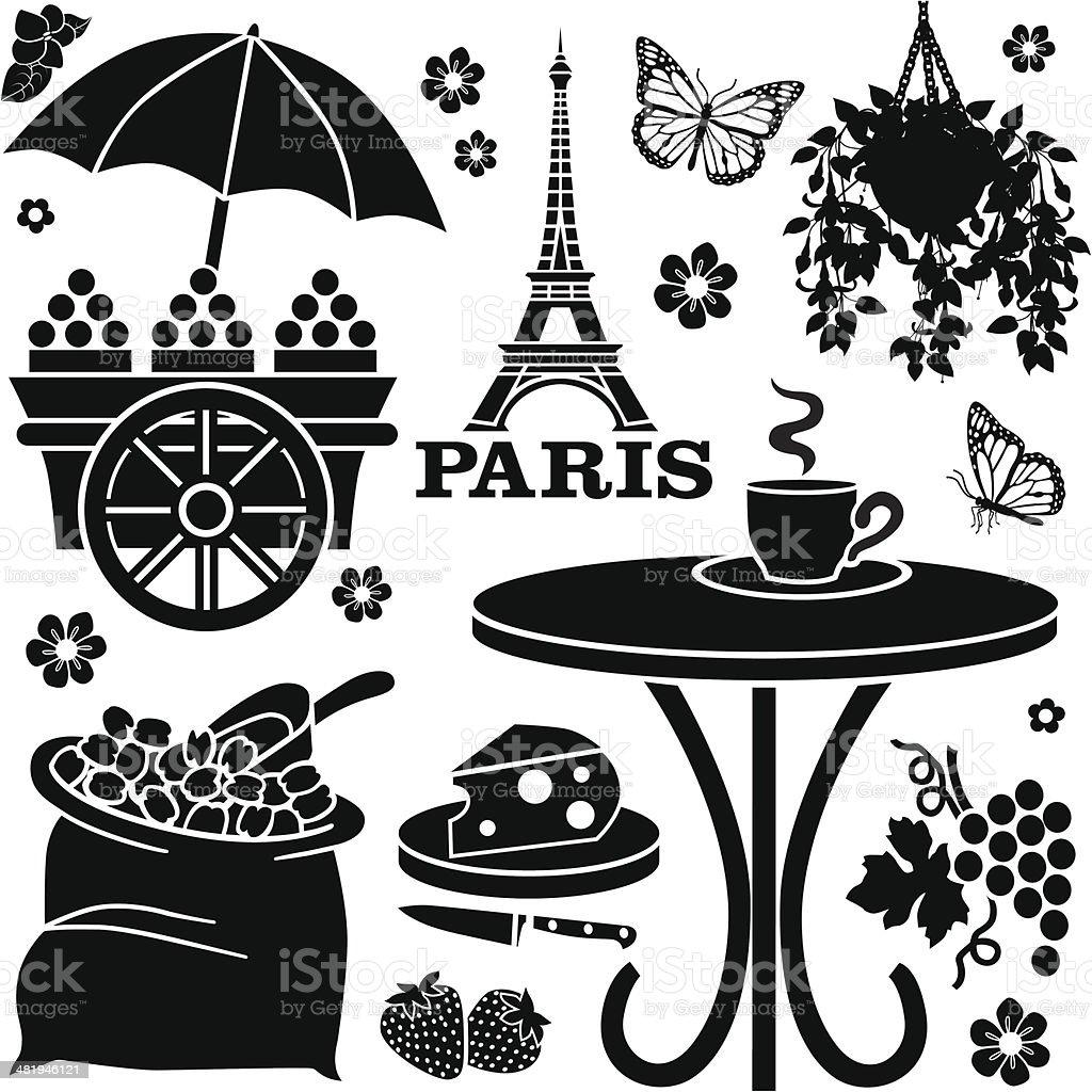Paris cafe vector art illustration
