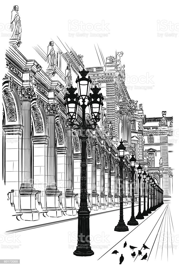 Paris: Classical architecture royalty-free stock vector art