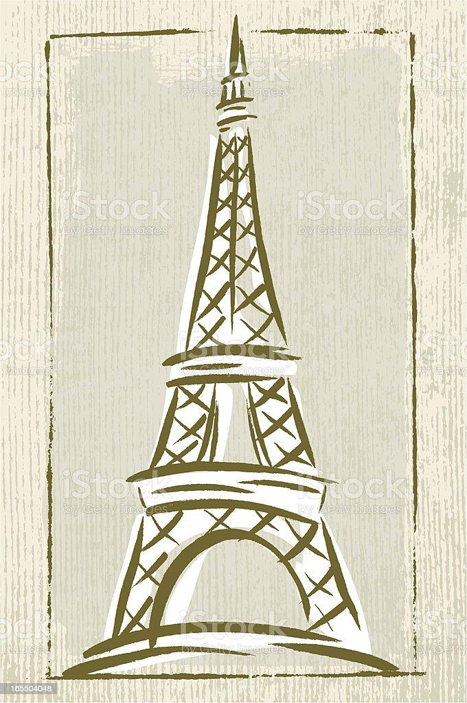 Paris Landmark royalty-free stock vector art
