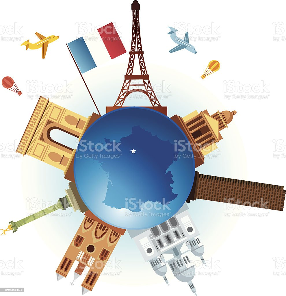 Paris Travel royalty-free stock vector art