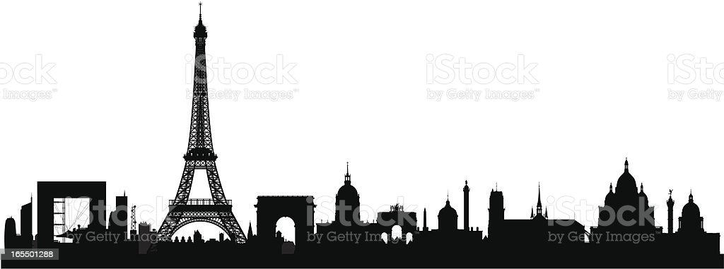 Paris (All Buildings Are Detailed, Complete and Moveable) royalty-free stock vector art