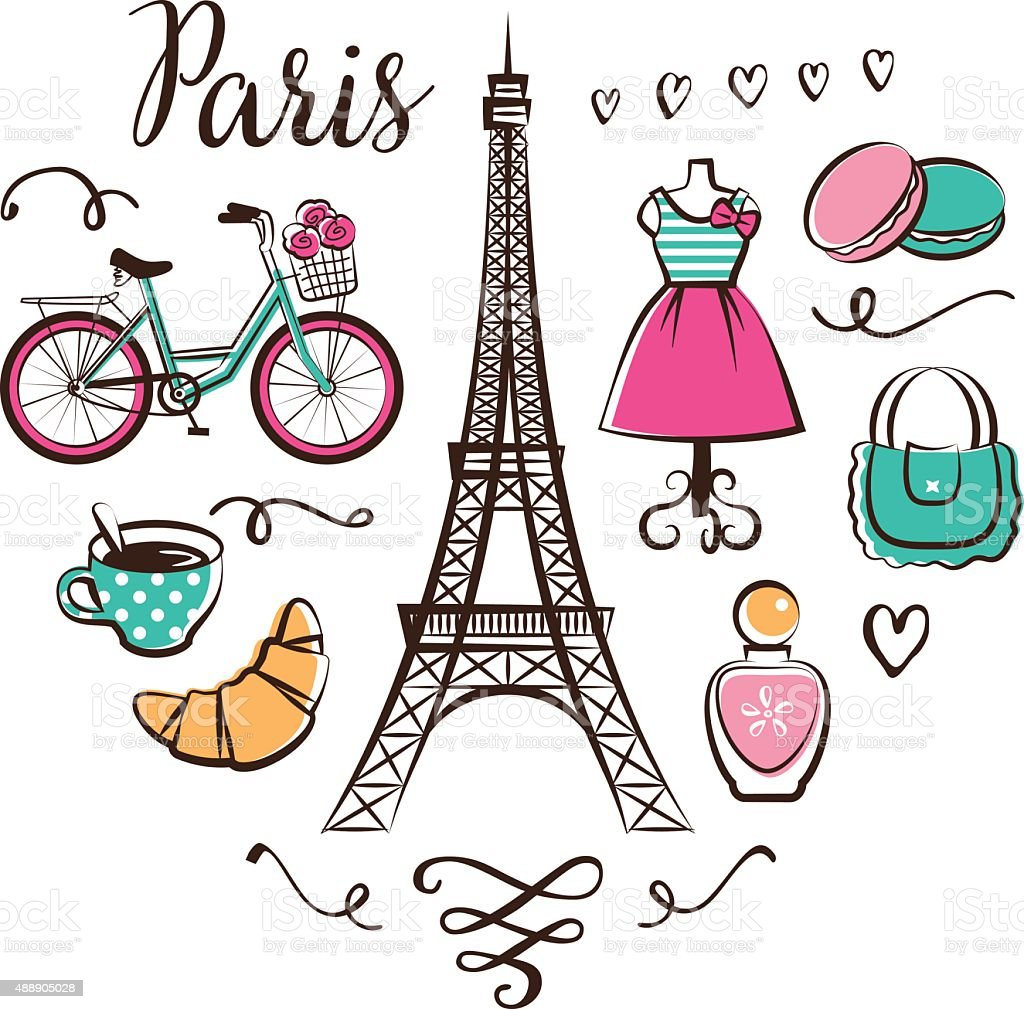 Paris vector art illustration