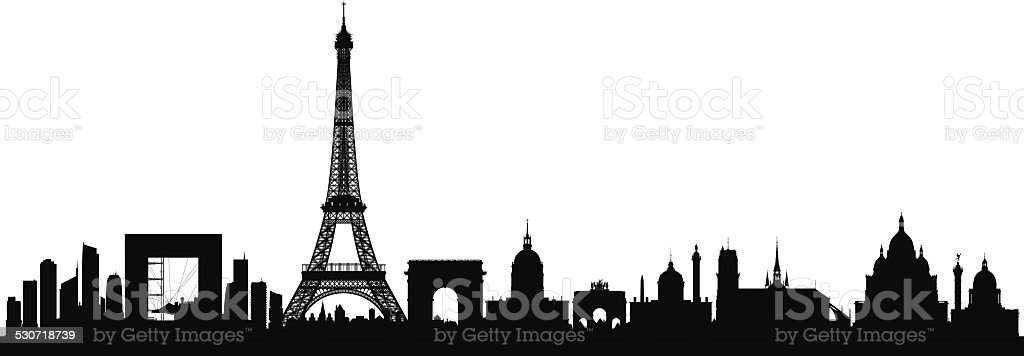 Paris (Buildings Can Be Moved) vector art illustration