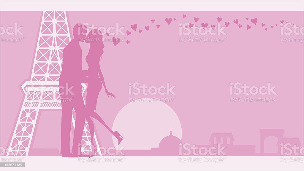 Parisian Lovers royalty-free stock vector art