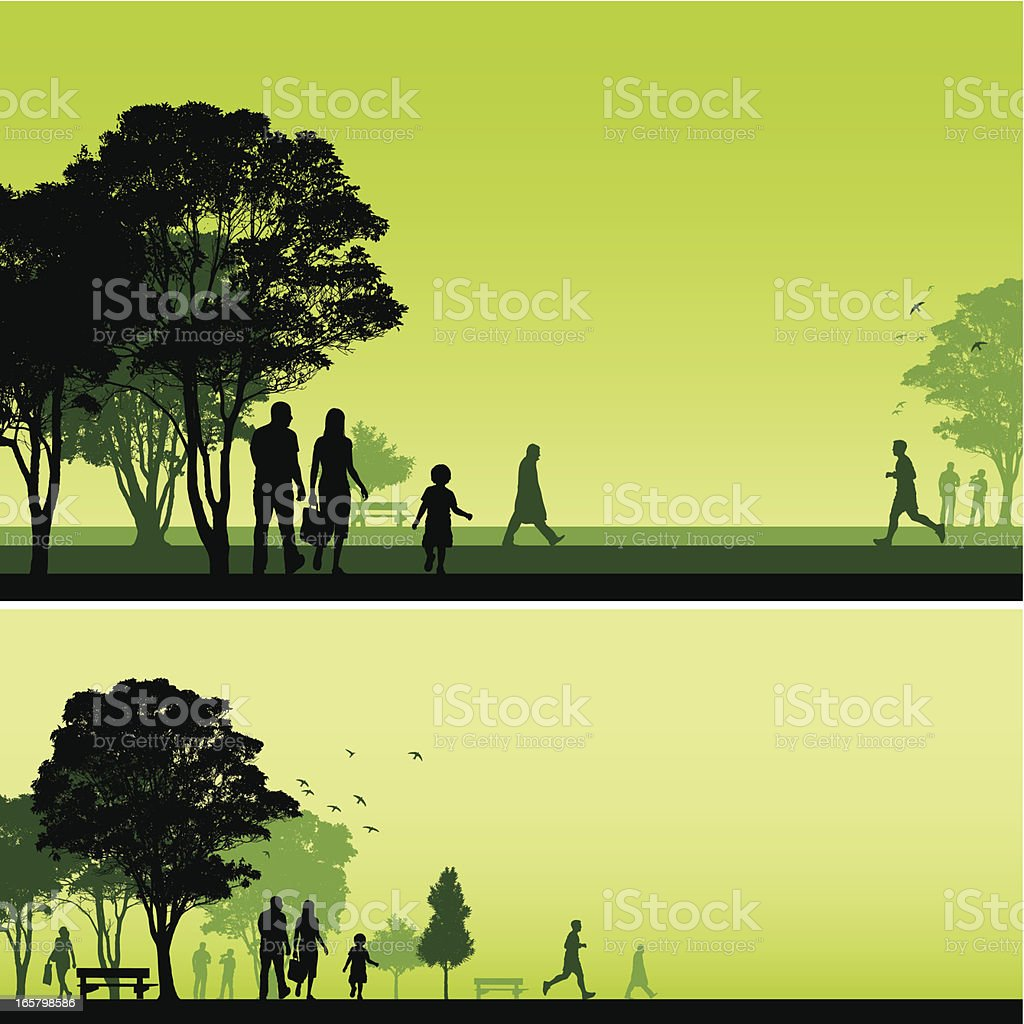 Park backgrounds royalty-free stock vector art