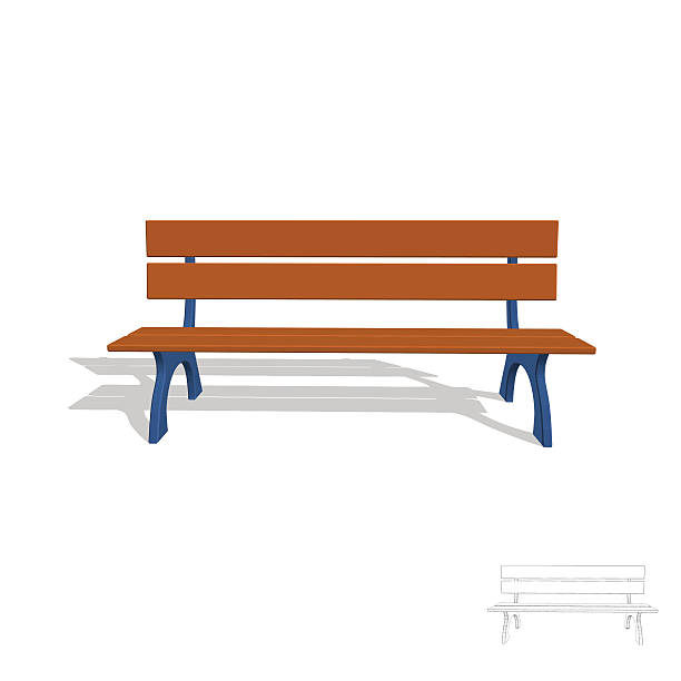 Lobby Bench Clip Art ~ Park bench clip art vector images illustrations istock