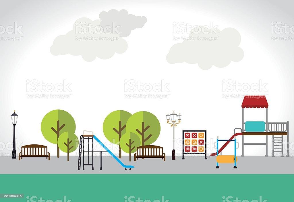 Park design over white background vector illustration vector art illustration