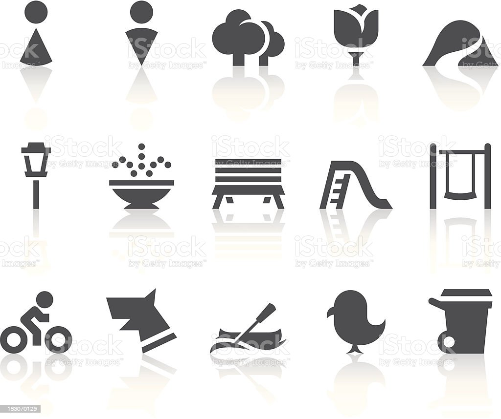 Park Icons | Simple Black Series vector art illustration