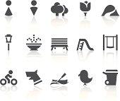Park Icons | Simple Black Series