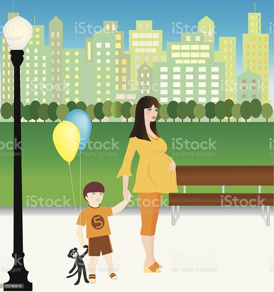 Park Outing vector art illustration