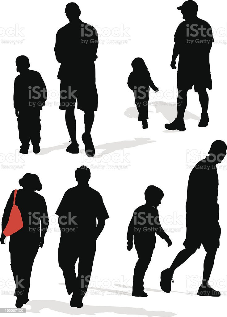 Park People royalty-free stock vector art