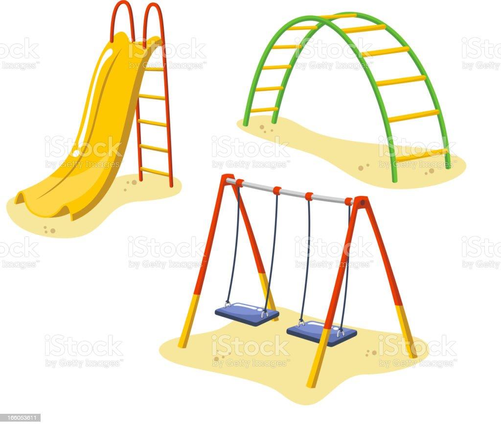 columpio estacin parque infantil patio de colegio verano el parque de juegos para nios