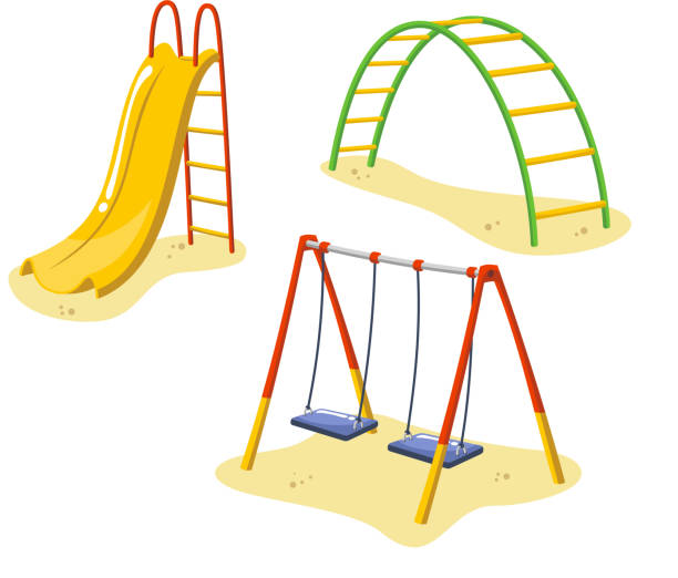 Slide Play Equipment Clip Art, Vector Images ...
