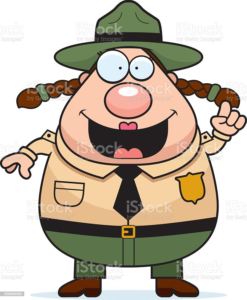 Park Ranger Idea vector art illustration