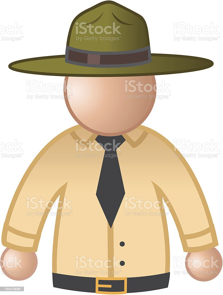 park ranger vector art illustration