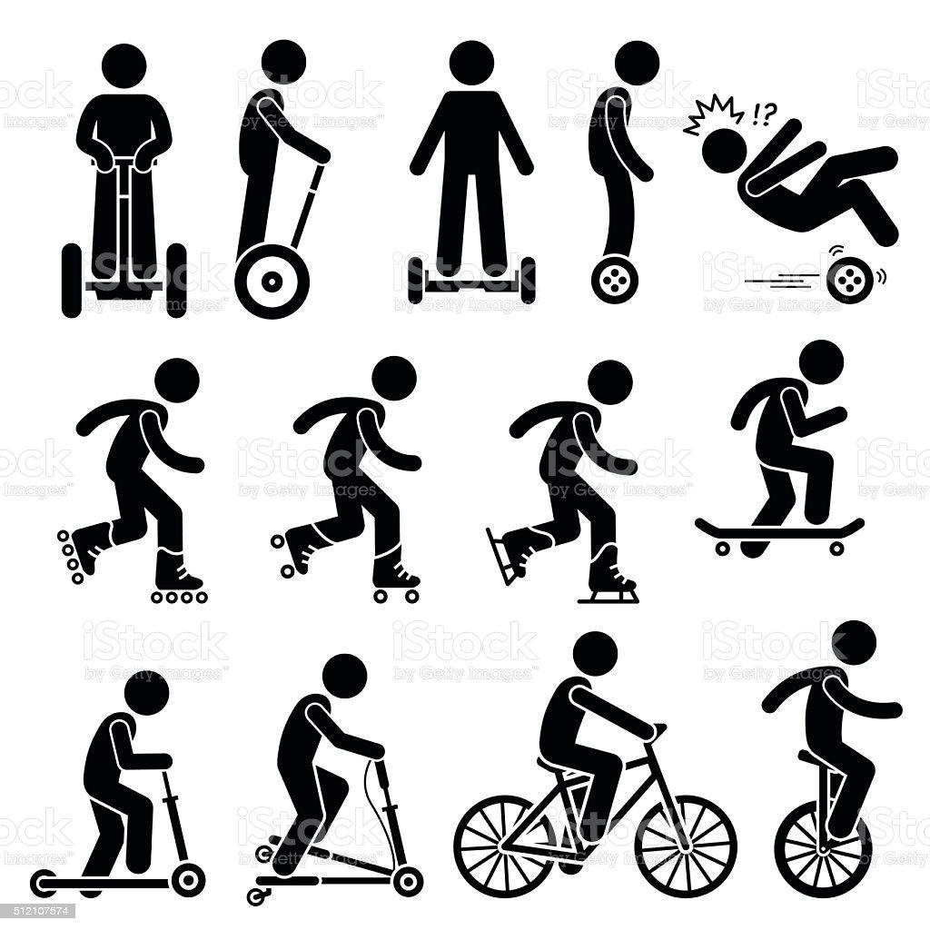 Park Ride Vehicles Illustrations vector art illustration