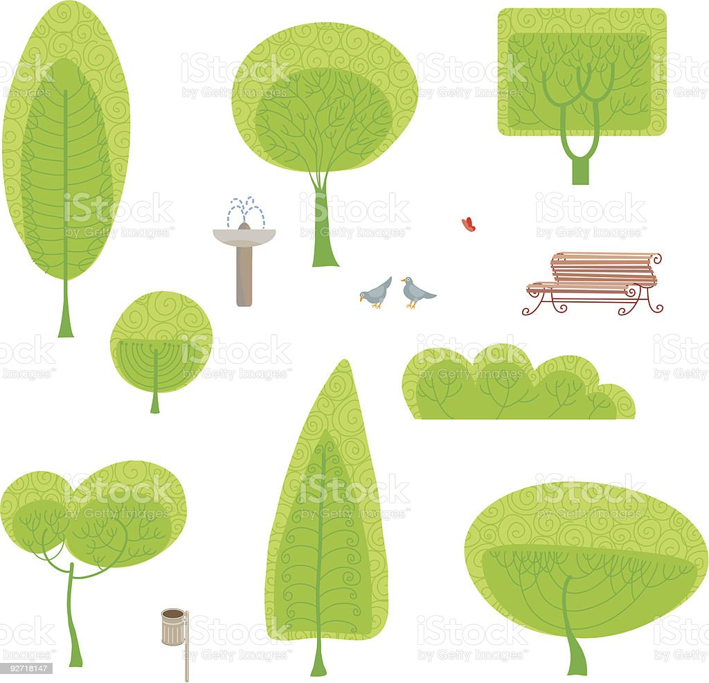 park set royalty-free stock vector art