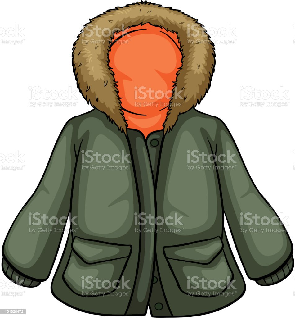 Parka vector art illustration