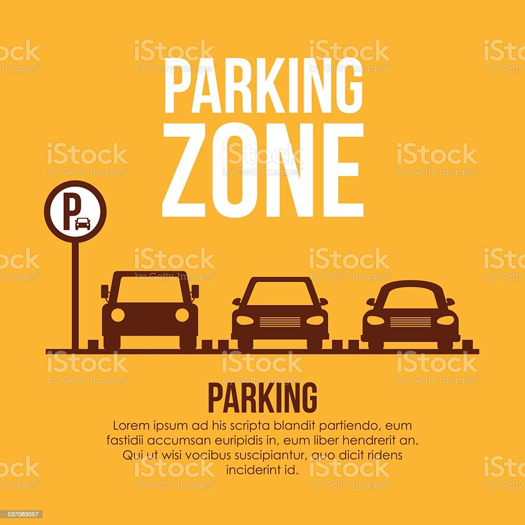 Parking design over yellow background vector illustration vector art illustration