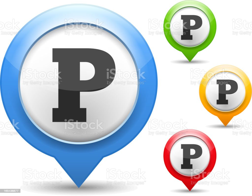 Parking Icon royalty-free stock vector art