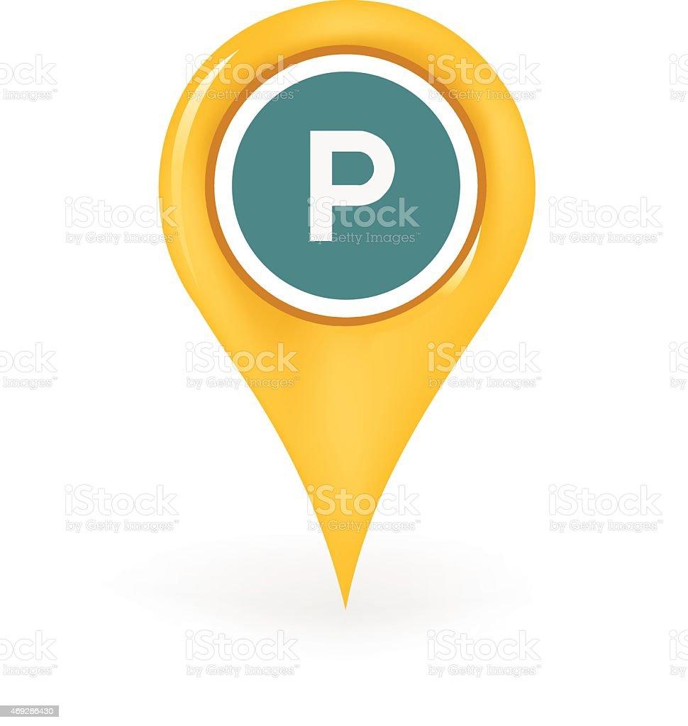 Parking Location vector art illustration