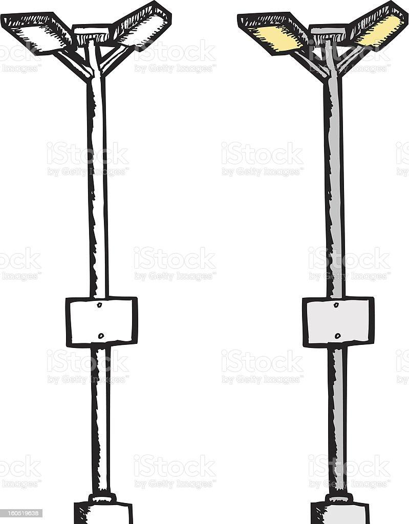 Parking Lot Lamp royalty-free stock vector art