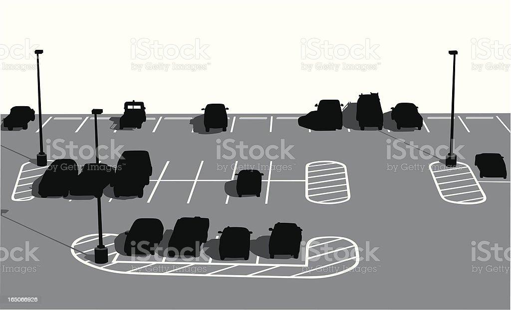 Parking Lot Vector Silhouette vector art illustration