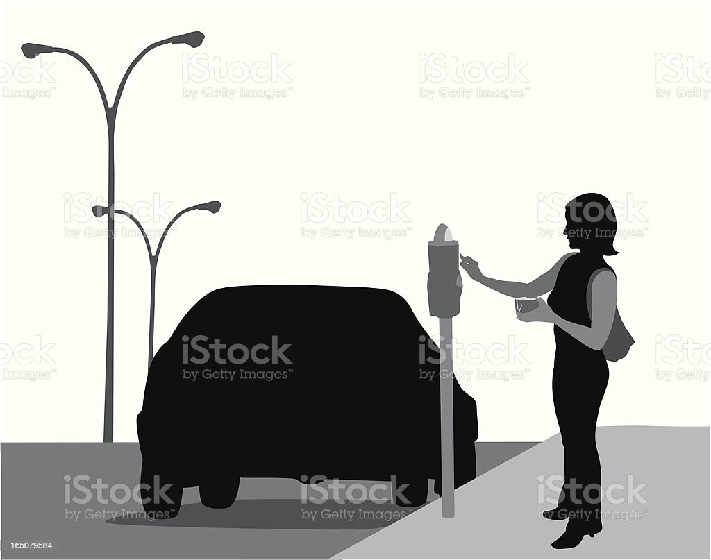 Parking Meter Vector Silhouette royalty-free stock vector art