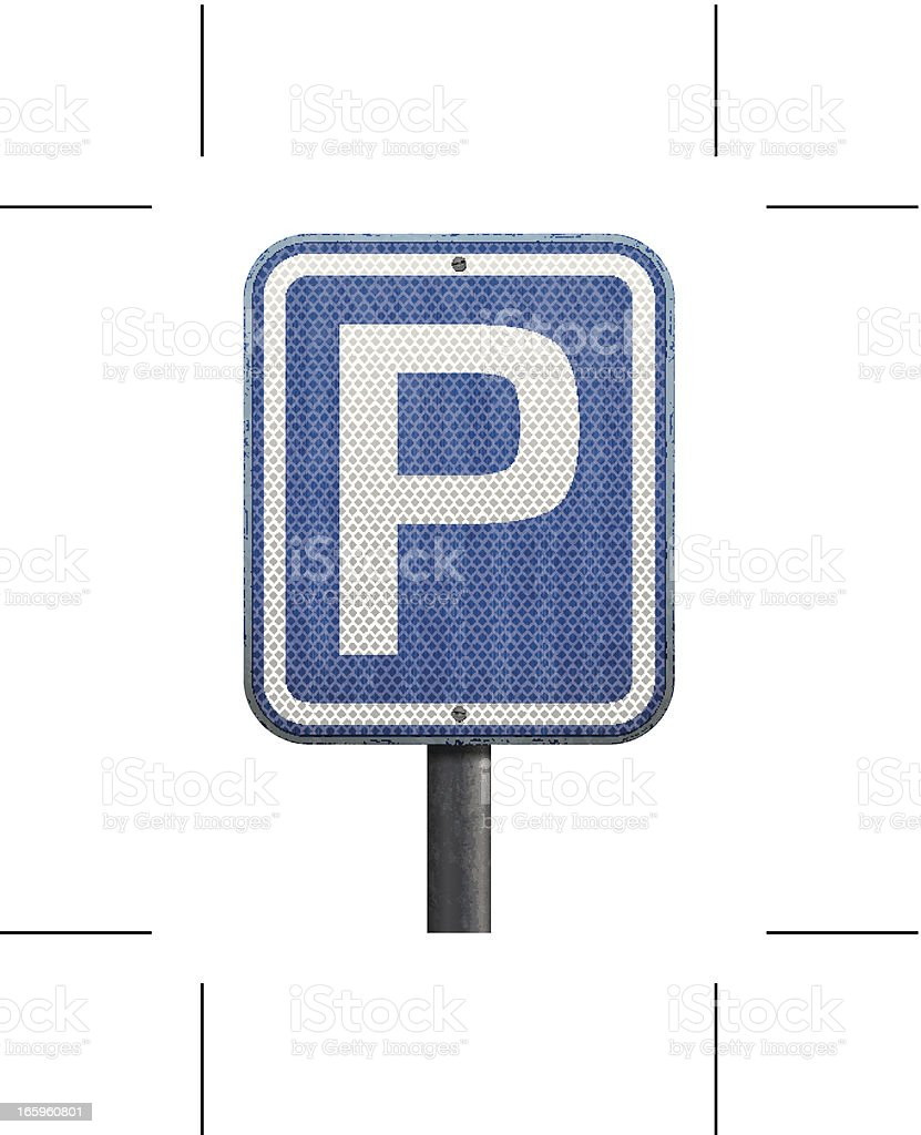 parking road sign royalty-free stock vector art