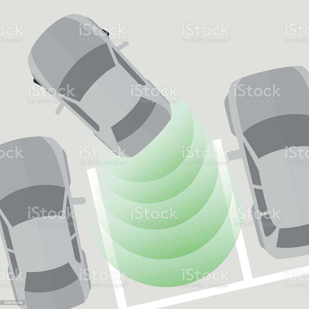Parking Sensor vector art illustration