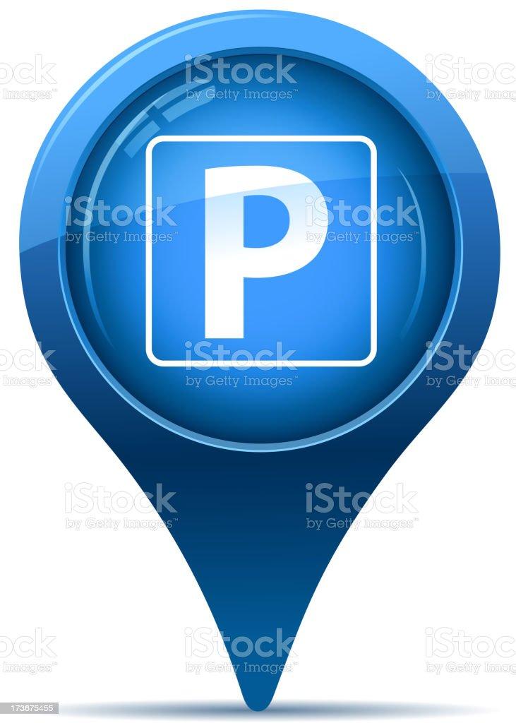 parking sign pointer vector art illustration