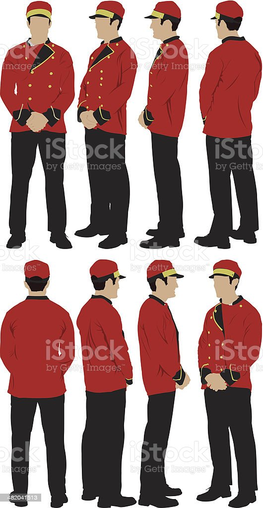 Parking valet royalty-free stock vector art