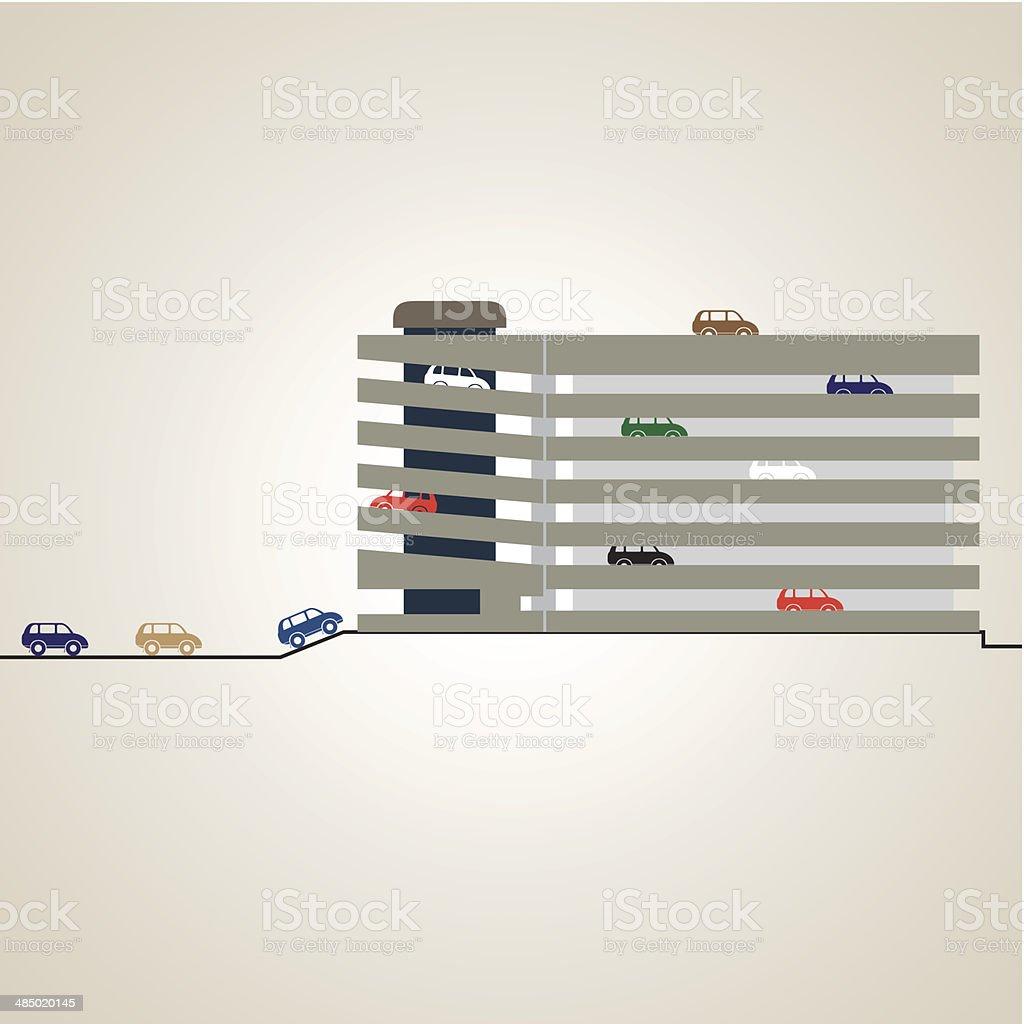 Parking vector art illustration