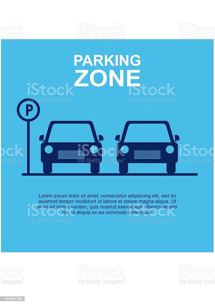 Parking Zone blue background. Vector Illustration. vector art illustration